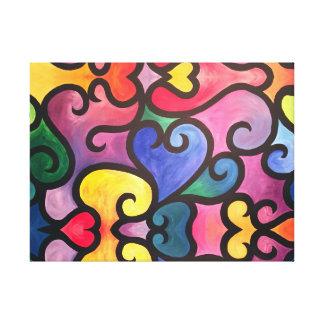 Abstract Heart Design Canvas Print