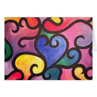 Abstract Heart Design Card