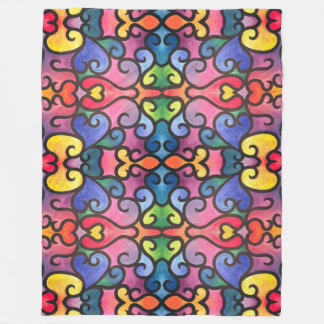 Abstract Heart Design Fleece Blanket