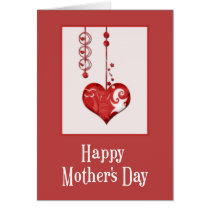 Abstract Heart Design Happy Mother's Day Card d2