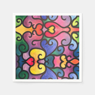 Abstract Heart Design Napkin