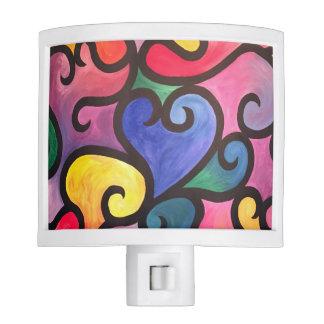 Abstract Heart Design Night Light