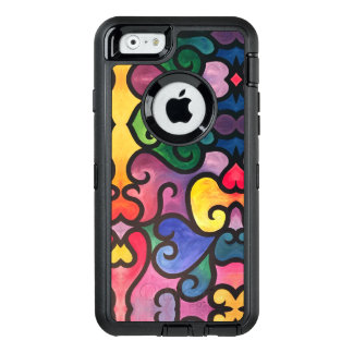 Abstract Heart Design OtterBox Defender iPhone Case