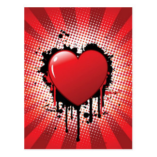 Abstract Heart Design Post Card