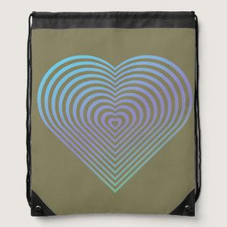 Abstract Heart Drawstring Bag
