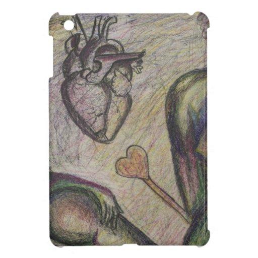 Abstract Heart ipad mini case