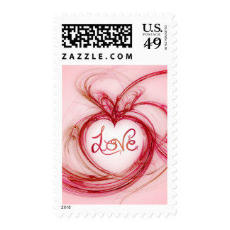 Abstract Heart Love stamps