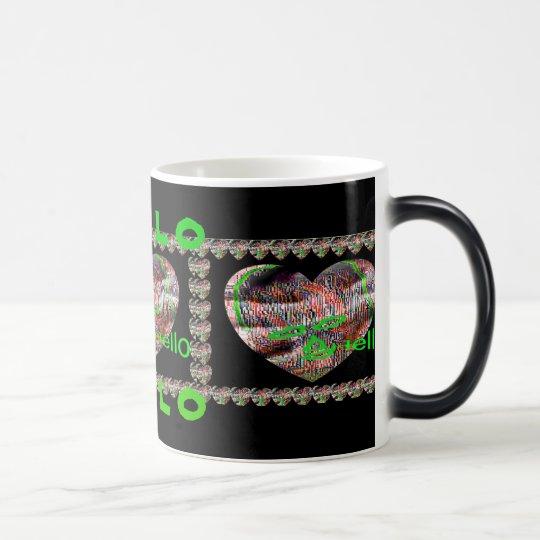 Abstract Heart Mask Magic Mug