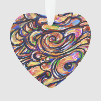 Abstract Heart Orn Ornament