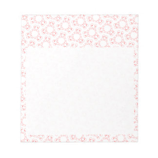 Abstract heart pattern note pad