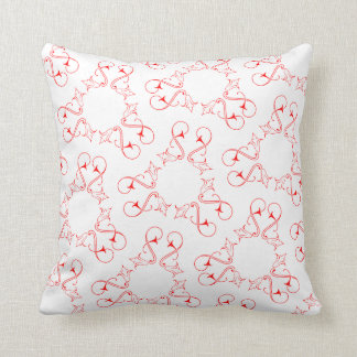 Abstract heart pattern throw pillow