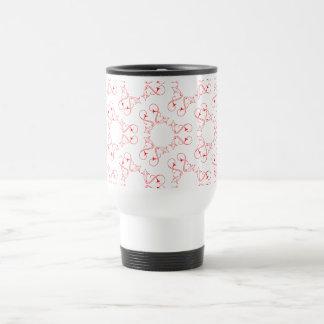 Abstract heart pattern travel mug