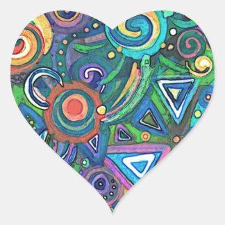 Abstract Heart Sticker