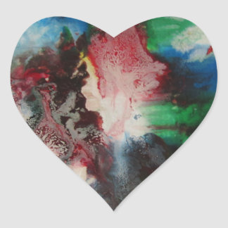 Abstract Heart Sticker