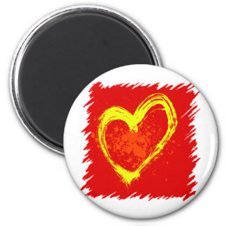 Abstract Heart Tattoo Magnet