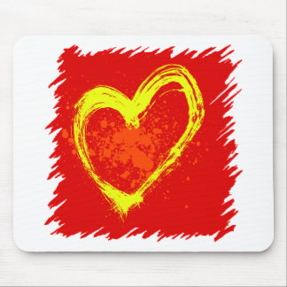 Abstract Heart Tattoo Mouse Pad