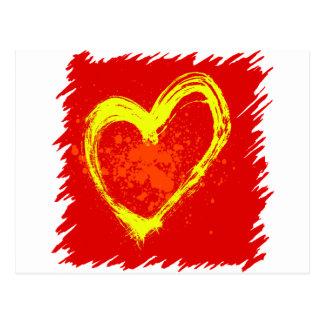 Abstract Heart Tattoo Postcard
