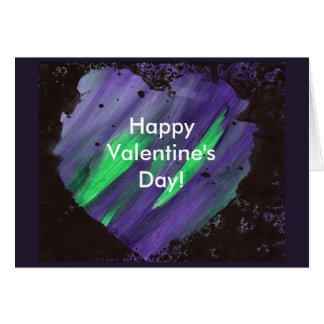 """Abstract Heart Valentine's Day Card 7"""" x 5"""""""