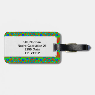 Abstract hearth pattern tag for luggage