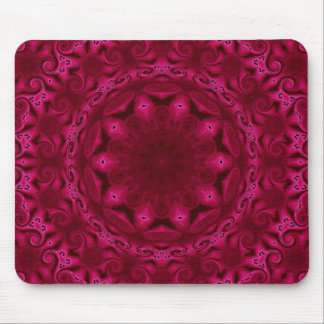 abstract hearts and flowers mousepad