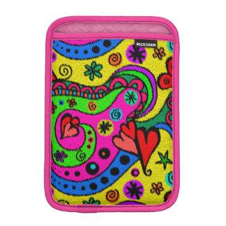 Abstract Hearts And Flowers Rug Colorful Imitation iPad Mini Sleeve