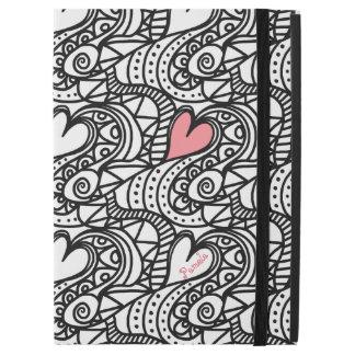 Abstract Hearts Doodle Art Custom iPad Pro Case