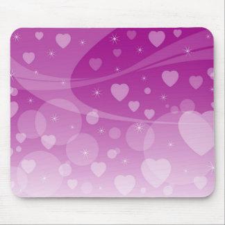 Abstract Hearts Mousepad