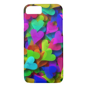 Abstract Hearts Rainbow iPhone 7 Case