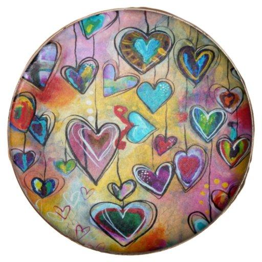 Abstract Hearts Valentine's Day Oreos