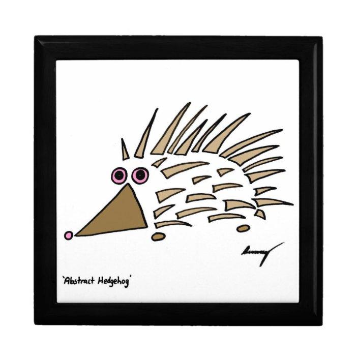 Abstract Hedgehog Keepsake Box