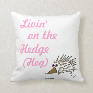 "Abstract Hedgehog ""Livin' on the Hedge Hog"" Pillow"