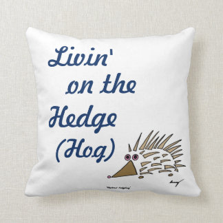 """Abstract Hedgehog """"Livin' on the Hedge Hog"""" Pillow"""