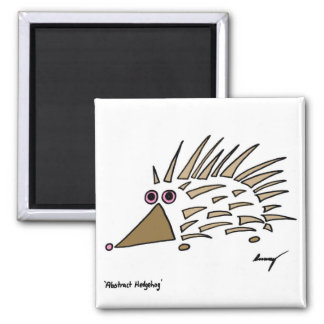 Abstract Hedgehog Magnet