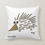 Abstract Hedgehog Pillow - Black