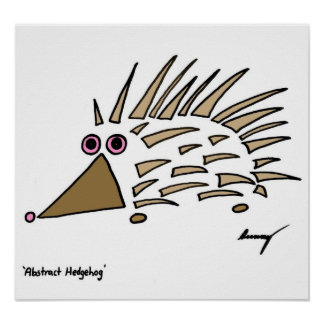 Abstract Hedgehog Print