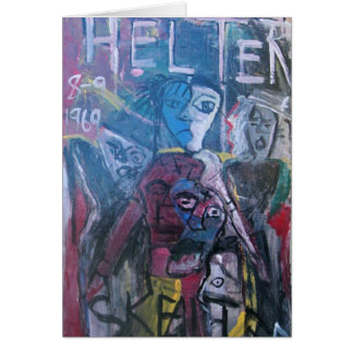 ABSTRACT HELTER SKELTER CARD