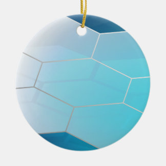 Abstract Hexagon Background_3 Ceramic Ornament