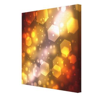 Abstract Hexagon Canvas Print