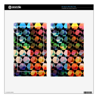 Abstract Hexagon Graphic Design Kindle Fire Decals
