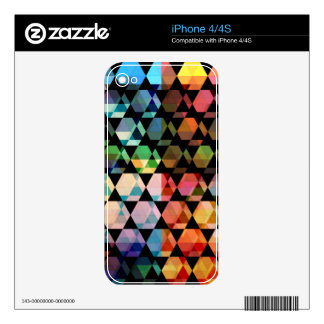 Abstract Hexagon Graphic Design Skin For iPhone 4