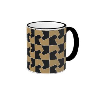 Abstract hexagon periodic tessellation pattern ringer mug