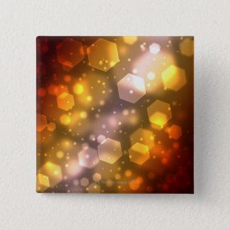 Abstract Hexagon Pinback Button