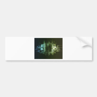 Abstract hi-tech background design bumper sticker