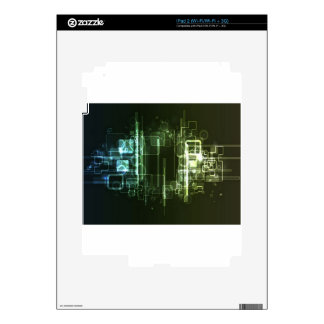 Abstract hi-tech background design decal for iPad 2