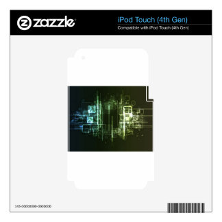 Abstract hi-tech background design decals for iPod touch 4G