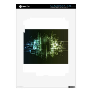 Abstract hi-tech background design skin for iPad 3