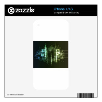Abstract hi-tech background design skins for the iPhone 4S
