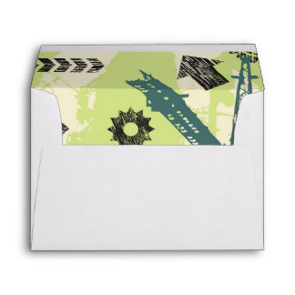 Abstract hi-tech background envelopes