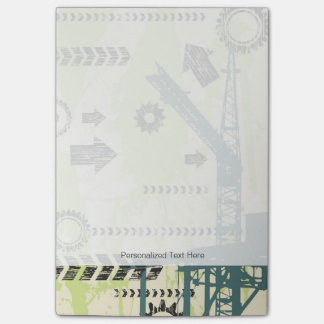 Abstract hi-tech background post-it® notes