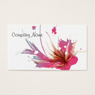 Abstract Hibiscus Flower Business Card